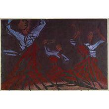 Ono Tadashige: Korean Dance (Chosen no odori), Shôwa period, - Harvard Art Museum