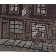 Ono Tadashige: Evening in London (Yugure no Rondon), Shôwa period, dated 1962 - Harvard Art Museum
