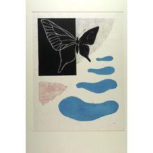 恩地孝四郎: Butterfly (Poem No. 8) [posthumous edition circa 1960], Shôwa period, dated 1960 - ハーバード大学