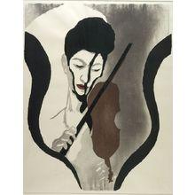恩地孝四郎: Impressions of a Violinist (posthumous edition circa 1960), Shôwa period, dated 1947 (posthumous edition circa 1960) - ハーバード大学