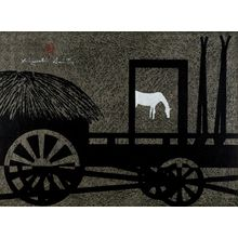 朝井清: Hokkaidô B [Horse and Plow], Shôwa period, dated 1961 - ハーバード大学