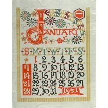 Serizawa Keisuke: Calendar for 1951 Composed of Twelve Sheets - ハーバード大学