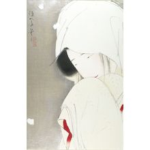 北野恒富: Woman in Snow (Sagi musume), Taishô period, - ハーバード大学