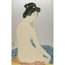 橋口五葉: Woman After the Bath (Yokugo no onna), Taishô period, dated 1920 - ハーバード大学