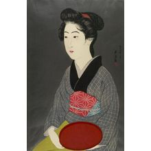橋口五葉: Portrait of a Waitress, Taishô period, dated 1920 - ハーバード大学