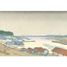 Hiratsuka Un'ichi: Rain on the Tama River, Shôwa period, - Harvard Art Museum