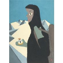Azechi Umetaro: Mountain Climber, Shôwa period, dated 1952 - Harvard Art Museum