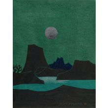 Kanamori Yoshio: Moonlit Landscape, Shôwa period, - ハーバード大学