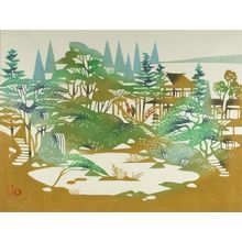 Inagaki Toshijirô: View of the Fujiya Hotel, Hakone, Shôwa period, dated 1959 - Harvard Art Museum