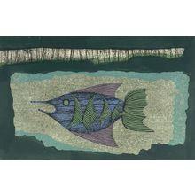 Fujita Fumiaki: Fish at Night (Yoru no uno), Shôwa period, dated 1963 - Harvard Art Museum
