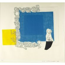 Ikeda Masuo: Blue in the Mirror, Shôwa period, dated 1965 - ハーバード大学