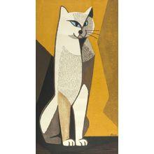 稲垣知雄: Seated Cat, Shôwa period, - ハーバード大学