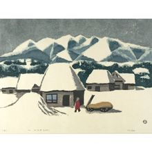 Azechi Umetaro: Farmhouse, Shôwa period, dated 1951 - ハーバード大学