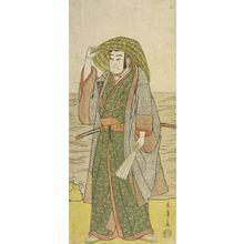 Katsukawa Shunsho: Actor Nakamura Nakazô 1st as Kume no Heinaizaemon disguised as Street Fortune-Teller Kôsaka Jinnai in the play Kotobuke Banzei Soga, performed at the Ichimura Theater from the fifth month of 1783, Edo period, 1783 (5th month) - Harvard Art Museum