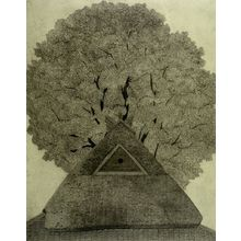 Tanaka Ryôhei: Roof and Tree, Shôwa period, - ハーバード大学