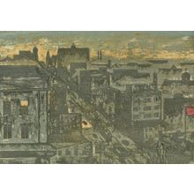 Onchi Koshiro: View from Surugadai, from the series One-Hundred New Views of Tokyo (Shin Tokyo hyakkei), Shôwa period, dated 1931 - Harvard Art Museum
