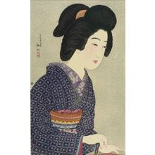 Takahashi Hiroaki: Girl by the Hibachi, Taishô period, dated 1925 - Harvard Art Museum