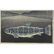 Katô Yasu: Fish of Akan, Shôwa period, dated 1961 - ハーバード大学