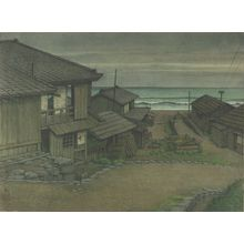 川瀬巴水: Cloudy Day in Mito: Large Sketch, Shôwa period, dated 1951 - ハーバード大学