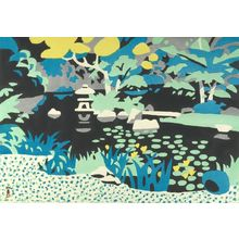 川西英: Waterlily Season, Shôwa period, dated 1959 - ハーバード大学
