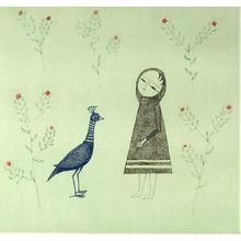 Minami Keiko: Small Girl with Bird - Harvard Art Museum