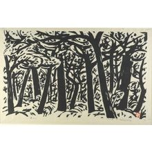 Sasajima Kihei: Windy Forest, No. 3, Shôwa period, dated 1958 - ハーバード大学