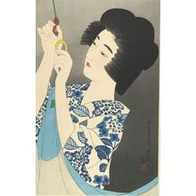 Ito Shinsui: Hooking Mosquito Net, Shôwa period, dated 1929 - Harvard Art Museum