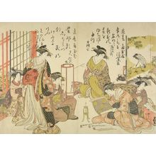 Kitao Masanobu: The courtesans Koi Murasaki and Hana Murasaki of the Kado Tama House from the printed album