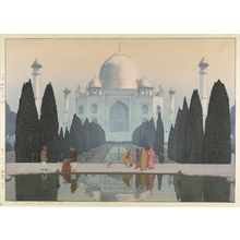 Yoshida Hiroshi: Morning Mist on the Taj Mahal No. 5, Shôwa period, dated 1932 - Harvard Art Museum