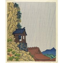 Hiratsuka Un'ichi: Rakan-ji in the Rain, Shôwa period, dated 1935 - ハーバード大学