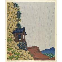 Hiratsuka Un'ichi: Rakan-ji in the Rain, Shôwa period, dated 1935 - ハーバード大学