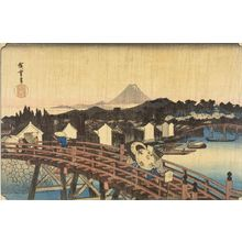 Utagawa Hiroshige: Sudden Shower at Nihombashi Bridge - Harvard Art Museum