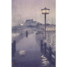 Kasamatsu Shiro: Night Rain at the Shinobazu Pond, 1938 - Harvard Art Museum
