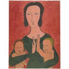 Tsugouharu Foujita: Mother and Two Children, 1917 - ハーバード大学