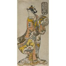鳥居清倍: Actor Arashi Wakano as Aburaya Osome, from the series A Comparison of Three Beauties (Musume Sanpukutsui), Edo period, early 18th century - ハーバード大学