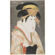 Toshusai Sharaku: Actor Segawa Kikunojô 3rd as Oshizu, the Wife of Tanabe Bunzô from the Play