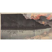 Kobayashi Kiyochika: Triptych: The Best of the Japanese Army in Taiwan, Meiji period, dated 1894 - Harvard Art Museum