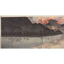 小林清親: Triptych: The Best of the Japanese Army in Taiwan, Meiji period, dated 1894 - ハーバード大学