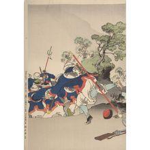 水野年方: Flight (Chinsen chihô no go-mei no Nihon-kôhei shin-hei hyaku-yo-nin o uchi shirizoku), Meiji period, - ハーバード大学