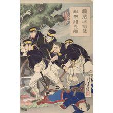 水野年方: The Foreign Enemy Giving Up (Hôôjô kanraku tekihei isô zu), Meiji period, dated 1894 - ハーバード大学