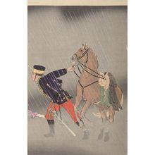 小林清親: Captain Asakawa Scouts the Battle and Fights Bravely (Sekkô Asakawa Kiheitaii Funsen no zu), Meiji period, dated 1895 - ハーバード大学