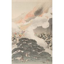 尾形月耕: Great Victory for the Japanese Army at P'yông Yang (Nichigun Heijô taisho no zu), Meiji period, dated 1894 - ハーバード大学