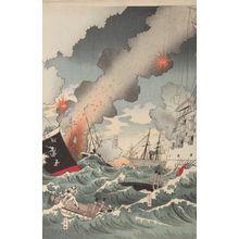 Nakamura Shûkô: Off Kaiyôjima the Japanese Destroyer was Victorious (Kaiyôjima oki nikkan taishô), Meiji period, dated 1894 - Harvard Art Museum