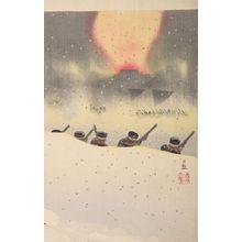 小林清親: Hyaku-shaku Gaisho kôgeki no zu, Meiji period, dated 1895 - ハーバード大学