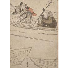 歌川豊広: Boaters Watching a Fight - ハーバード大学