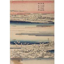 歌川広重: Sumida River in the Snow, from the series Famous Places in the Eastern Capital - ハーバード大学