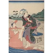 Utagawa Kuniyoshi: Musashi no Kuni: Chôfu no Tamagawa, Late Edo period, circa 1847-1852 - Harvard Art Museum