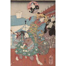 歌川国芳: Iriyamagatato noboru kitaguchi: Yoshiwara..., Late Edo period, 19th century - ハーバード大学