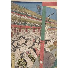 Utagawa Kunisada: Sumô Wrestling Tournament (Kanzin ôsumô torikumi no zu), Late Edo period, 1858 - Harvard Art Museum