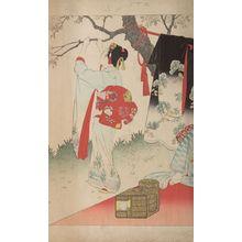 Miyagawa Shuntei: Village of Cherry Blossoms, from the series Esteemed Towns and Villages (Tôsei furaku tsû), Meiji period, 1897 - Harvard Art Museum